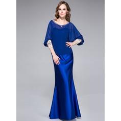 Trumpet/Mermaid Sweetheart Floor-Length Charmeuse Evening Dress