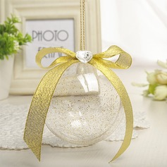 Creative/Round Ball Plastic Candy Jars and Bottles With Ribbons (Set of 12)