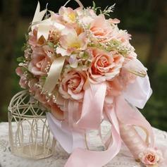 Romantiskt Rund Satin Brud Buketter