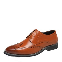 Men's Real Leather Brogue Casual Men's Oxfords (259171629)