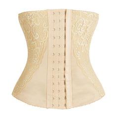 Damen Klassische Art Polyester Gesäß anheben Hohe Taille Taille Cincher mit Spitze Formwäsche