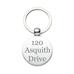 Personalized Round Zinc Alloy Keychains