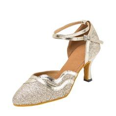 De mujer Brillo Chispeante Sala de Baile Zapatos de danza