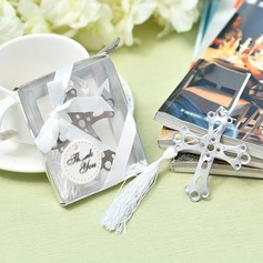 "Classic/""Happy Wedding"" Stainless Steel Bookmarks"