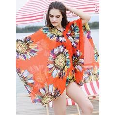 Blommig överdimensionerad/attraktiv/mode Beach Poncho