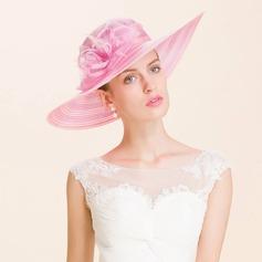 Dames Accrocheur Organza Chapeau melon / Chapeau cloche/Kentucky Derby Des Chapeaux/Chapeaux Tea Party