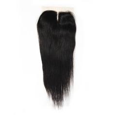 """4""""*4"""" 4A Non remy Tout droit les cheveux humains Fermeture (Vendu en une seule pièce) 100 g"""