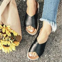 Naisten Mokkanahka Wedge heel Kiilat jossa Muut kengät