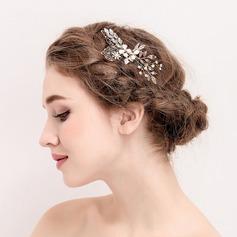 Señoras Romántico Rhinestone/Aleación/La perla de faux Peines y pasador