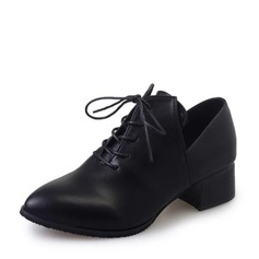 Vrouwen Kunstleer Chunky Heel Pumps met Vastrijgen schoenen
