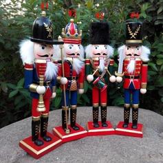 """Príncipe da coroa"" Projeto de Natal De madeira (Conjunto de 4)"