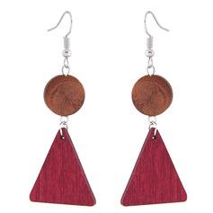Shining Alloy Wood Fashion Earrings