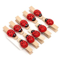 Animal Shaped Wooden Clips (Set of 10)