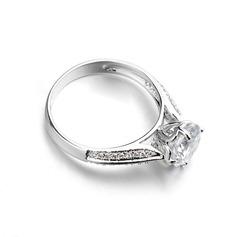 Einzigartige Legierung mit Zirkonia Damen Ringe