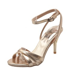 Kvinner Stiletto Hæl Pumps Sandaler Beach Wedding Shoes med Spenne
