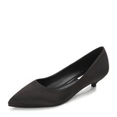 Vrouwen Satijn Low Heel Pumps Closed Toe met Anderen schoenen