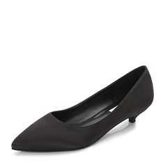 Frauen Satin Niederiger Absatz Absatzschuhe Geschlossene Zehe mit Andere Schuhe