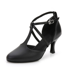 Women's Leatherette Heels Ballroom Dance Shoes (053143464)