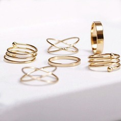 Mooi Legering Dames Fashion Ringen (Set van 6)