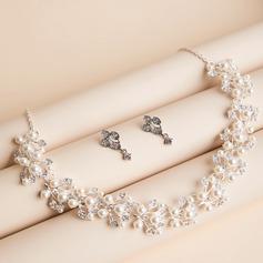 Сияющий сплав/Перлы ложный с Австрийский Кристалл женские Комплекты ювелирных изделий
