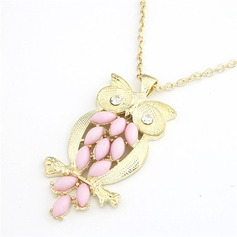 Cute Owl Alloy With Rhinestone Women's Fashion Necklace