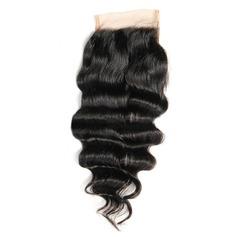 """4""""*4"""" 4A Profond les cheveux humains Fermeture (Vendu en une seule pièce)"""