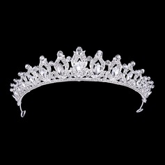 Ladies Glamourous Alloy Tiaras With Rhinestone (Sold in single piece) (042207501)