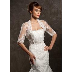Half-Sleeve Lace Wedding Wrap (013014590)