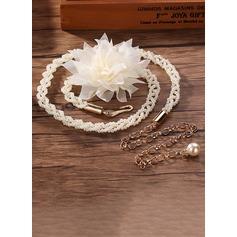 Elegante Aleación Fajas con Flor/La perla de faux