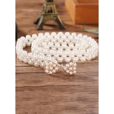 Élégante De faux pearl Ceinture avec Strass