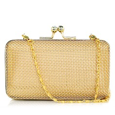 Elegant Stainless Steel With Rhinestone Clutches