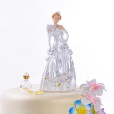 Underbara Saga Brud Harts Bröllop Tårtdekoration