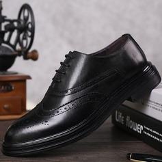 Mænd ægte læder Blondér Brogue Casual Pæne sko Oxfords til Herrer