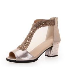 Femmes Similicuir Sandales Bottes de Danse Chaussures de danse