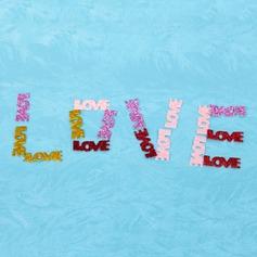 Amor Projeto Tecido Acessórios decorativos (Conjunto de 50)