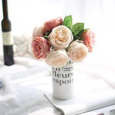 Unique Sunflower Round Satin Bridal Bouquets -