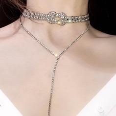 Unique Alloy With Rhinestone Women's Fashion Necklace