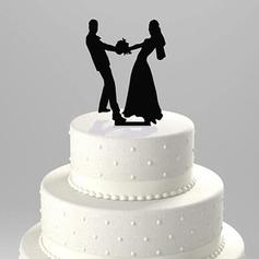 Figurilla Pareja de baile Acrílico Boda Decoración de tortas