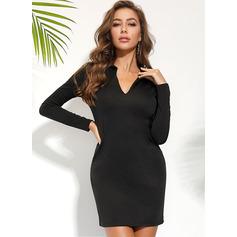 Cubierta Cuello de camisa poliéster Vestidos de moda (293237672)