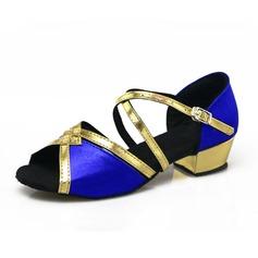 Femmes Satiné Sandales Latin avec Boucle Ouvertes Chaussures de danse