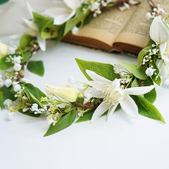 Girly de Rond Fleur en soie/Fleurs Artificielles Coiffure Fleur (vendu en une seule pièce) - Coiffure Fleur