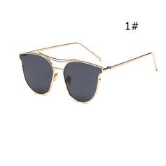 UV400 Šik Flat Brow Sluneční brýle