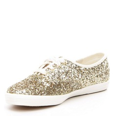 Women's Sparkling Glitter Low Heel Closed Toe With Lace-up