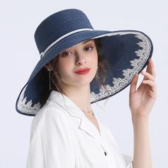 Senhoras Simples/Fantasia Papiro Chapéu de palha/Chapéus praia / sol