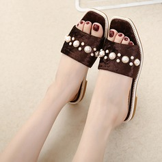 Women's Flat Heel Slippers With Imitation Pearl shoes