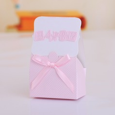 """Baby"" Cuboid Favor Boxes With Ribbons (Set of 12)"