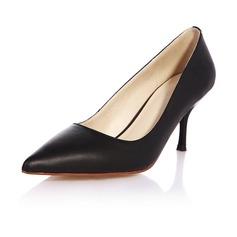 Echtleder Stöckel Absatz Absatzschuhe Geschlossene Zehe Schuhe
