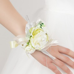 Pretty Free-Form Satin Wrist Corsage -