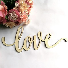 Love Design Letter Wooden Wedding Sign (Sold in a single piece)
