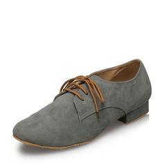 De los hombres Ante Planos Sala de Baile con Cordones Zapatos de danza